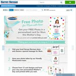 FREE Photo with Personalised Card for Mothers Day @ Harvey Norman