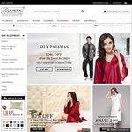 10% off Silk Sleepwear + Free Silk Travel Bag (Worth USD $29) @ Lily Silk