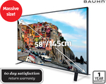 "[ALDI] Bauhn 58"" (145cm) Full HD LED TV $777, Bluetooth Headphones OverEar $39.99 NFC"