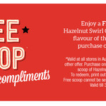Free Scoop of Hazelnut Swirl Cheesecake Gelato with Another Scoop Purchase @ Gelatissimo