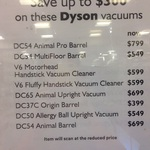 Dyson Vacuums on Sale @ David Jones - DC37C Origin- $399, DC54 Animal Pro- $799
