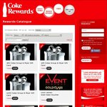 Coke Rewards: New Coles / Myer Group Gift Cards ($10 - 200 Tokens & $200 - 4000 Tokens)