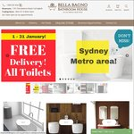 Australian Day Bathroom Ware Sale - 10% off All Orders at Bella Bagno Bathroom House
