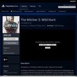 The Witcher 3: Wild Hunt PS4 $39.95 on AU PSN