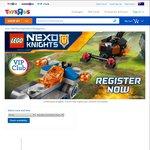 Free Toys'R'Us Lego Make and Take - Nexo Knights 23/24 April