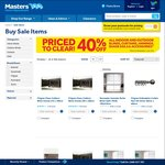 40% off All Indoor & Outdoor Blinds, Curtains, Awnings, Shades Sails & Accessories @ Masters