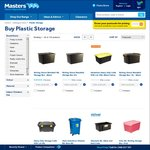 40% off All Plastic Storage Containers @ Masters (i.e. 48L Rolling Container + Lid for $5.40)