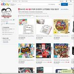 $5 off for Every 2 Items You Buy in 3Ds, 2DS Games, Consoles and Accessories @ The Gamesmen eBay
