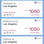 Virgin Australia Happy Hour (Sydney to LA Return $1050)