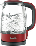 Breville The Crystal Clear Glass Kettle (Cranberry) BKE480CRN $54 (RRP$99) @ The Good Guys