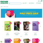 50% off Selected Oxfam Unwrapped Gift Cards