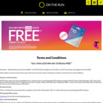 Free $10 Telstra SIM Kit with 10GB Bonus Data with Any Purchase at On The Run (SA Only)