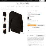 Asymmetric Shoulder Knit $9.95 Was $149.95 @ Witchery