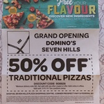 50% off Traditional Pizzas @ Domino's Seven Hills (NSW)