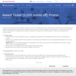 3000 Points off Return Award Bookings, 1500 Points off One Way Bookings for Members @ China Airlines
