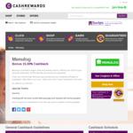 Menulog 15% Cashback (Was 4%), Hotels.com 12% Cashback (Was 5.60%) @ Cashrewards