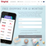 Free 12 Month Shipster Subscription from TinyMe