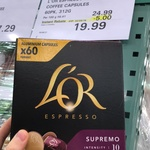 [NSW] L'OR Espresso 60 Pack Coffee Capsules $19.99 @ Costco Crossroads (Membership Required)