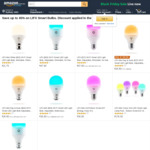 LIFX Bulbs up to 45% off - Mini RGB $36.90, A19 RGB $47.90, Mini Day & Dusk $28.90 + Post (Free $49 Order/ Prime) @ Amazon AU
