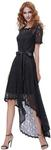 Evening Prom Dress, Short Sleeve Round Neck High-Low Black Lace US $7.99 / ~AU $11 + Free Shipping @ Grace Karin