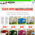 Over 25% off Wallaroo 3x3 Marquee - Popup Gazebo - Black for $99 + Shipping @ Klika Shop