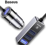 Baseus 4 USB Fast Car Charger Multiple Expander Charger AU $10.98 Delivered @ eSkybird