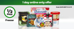 50% off Selected Freezer Items (Excluding Low Price Always) @ Woolworths Online