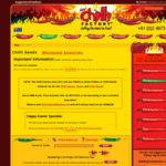 Super Hot Chilli Seeds $3 to $5 for 20 Seeds (Save 50% - 70%, $20 Min Spend) + $3.50 Shipping @ The Chilli Factory