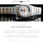 Win a Gerard McCabe Timepiece Worth $1,200 from Gerard McCabe