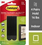 3M Command Picture Hanging Strips, Large, Black, 4-Pairs $4.74 + Delivery (Free with Prime) @ Amazon US via AU