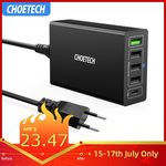 CHOETECH 60W 5-Port USB-C PD Charger with QC3.0 and USB-C PD Cable US $25.35 (~AU $36.60) Delivered @ Choetech AliExpress