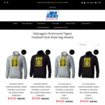 Richmond Tigers Shoe Tag Mens Hoodie $19.95 (SAVE $50) (+ $15 Shipping or $0 Click & Collect) @ Jim Kidd Sports
