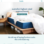 15% off Bed Base, Pillows & Sheets @ Koala Mattress