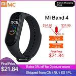 Xiaomi Mi Smart Band 4 US $26.22 (~AU $39.30) Shipped via Xiaomi MC Store @ AliExpress