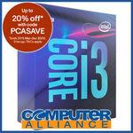 Intel S1151 Core i3 9100F 3.6GHz 4 Core CPU $103.20 + Delivery (Free with eBay Plus) @ Computer Alliance eBay