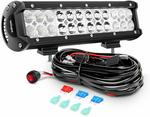 Nilight Led Light Bar 12 Inch 72W Combo with off Road Wiring Harness $41.80 + Delivery ($0 with Prime) @ Amazon US via AU