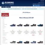 25% off Mizuno Running Gear @ Running Warehouse