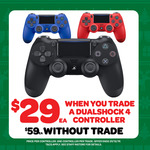 [PS4] DualShock 4 Controller (All Colours) $29 with DualShock 4 Trade in @ EB Games