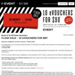 10 Off-Peak eVouchers for $90 @ Event Cinemas (Excludes VIC, TAS)