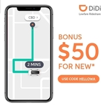 [WA] 10 x $5 Vouchers - New Users Only @ DiDi Rideshare