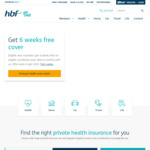 HBF Health Insurance, Maintain Cover for 6 Month to Get 6 Weeks Free Cover