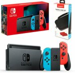 Nintendo Switch Neon with Travel Case $488 + Delivery @ The Gamesmen