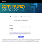 """$20 off Your Sony """"Click Frenzy"""" Purchase (Min Spend $50) @ Sony"""