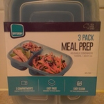 3 Pack Meal Prep Reuseable Containers $2.50 (RRP $10), Instore ONLY@ Woolworths.