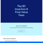 Pay $0 Insertion & Final Value Fees On Next Two eBay Listings