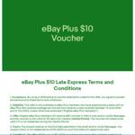 [eBay Plus] $10 Late Express Shipping Voucher