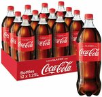 Coca-Cola Coke Varieties 12 x 1.25l bottles $18.84 ($16.96 with Sub & Save) + Delivery ($0 with Prime/ $39 Spend) @ Amazon AU