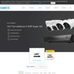 Reolink RLK8-520B2D2 5MP PoE Security Camera System 2X Bullet Cameras 2X Dome Cameras US$314.99(Was US$419.99) ~A$459.5 @Reolink