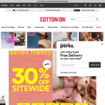 "30% off Full Price Items ""Scroll Frenzy"" at Cotton On"