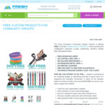 Free Custom Products for Community Groups (Sponsorship Link Required) @ Fresh Promotions